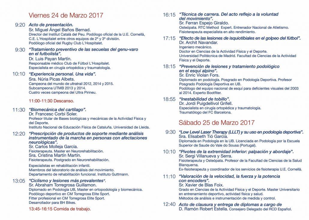 El Institut Català del Peu organiza las II Jornadas sobre el diagnóstico y los tratamientos del pie en el deporte