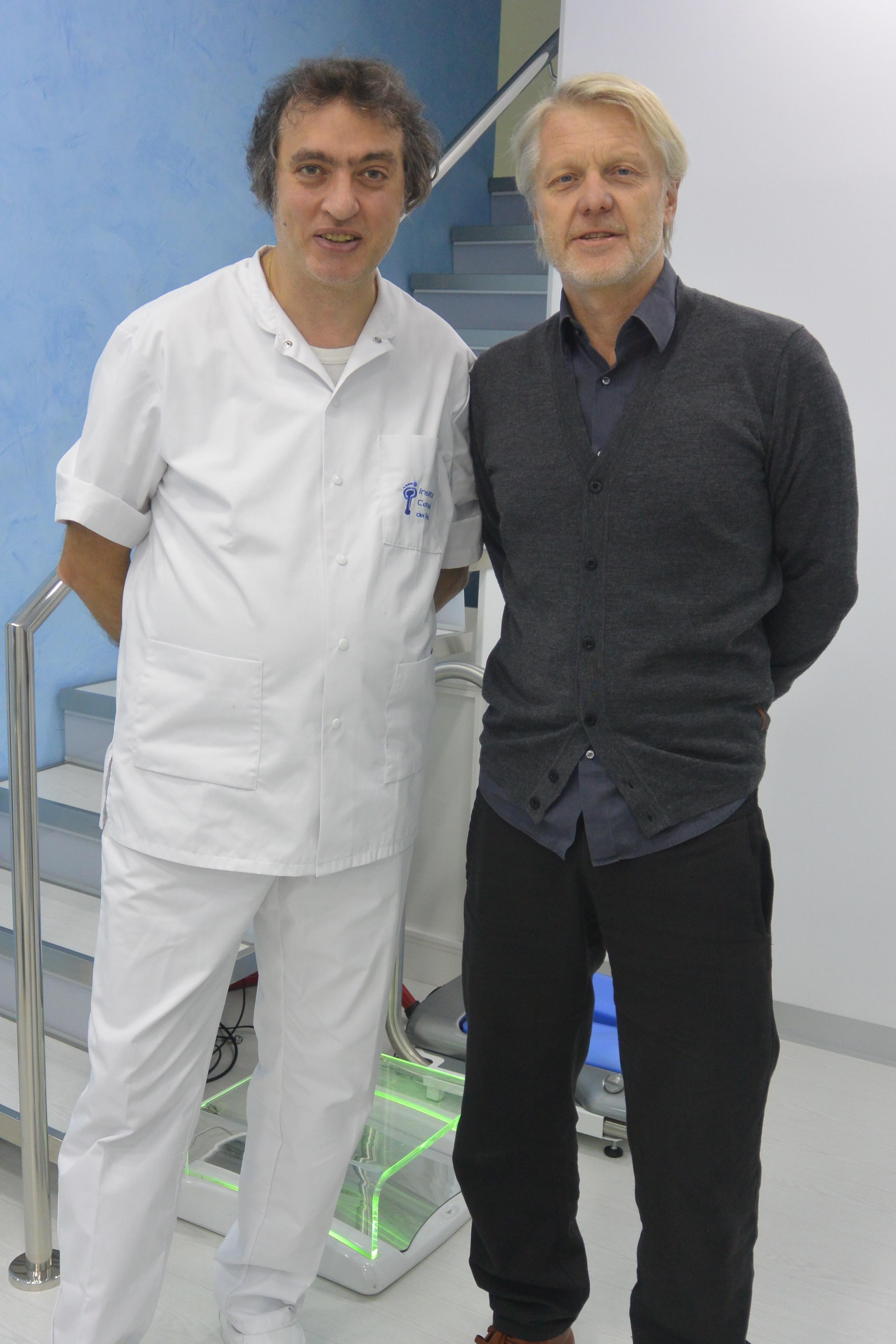 Niegel Griffiths, director general de Adidas, visita el Institut Català del Peu