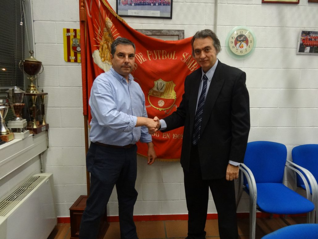 Nuevo contrato de colaboración entre el Futbol Club Santboiana y el Institut Català del Peu.