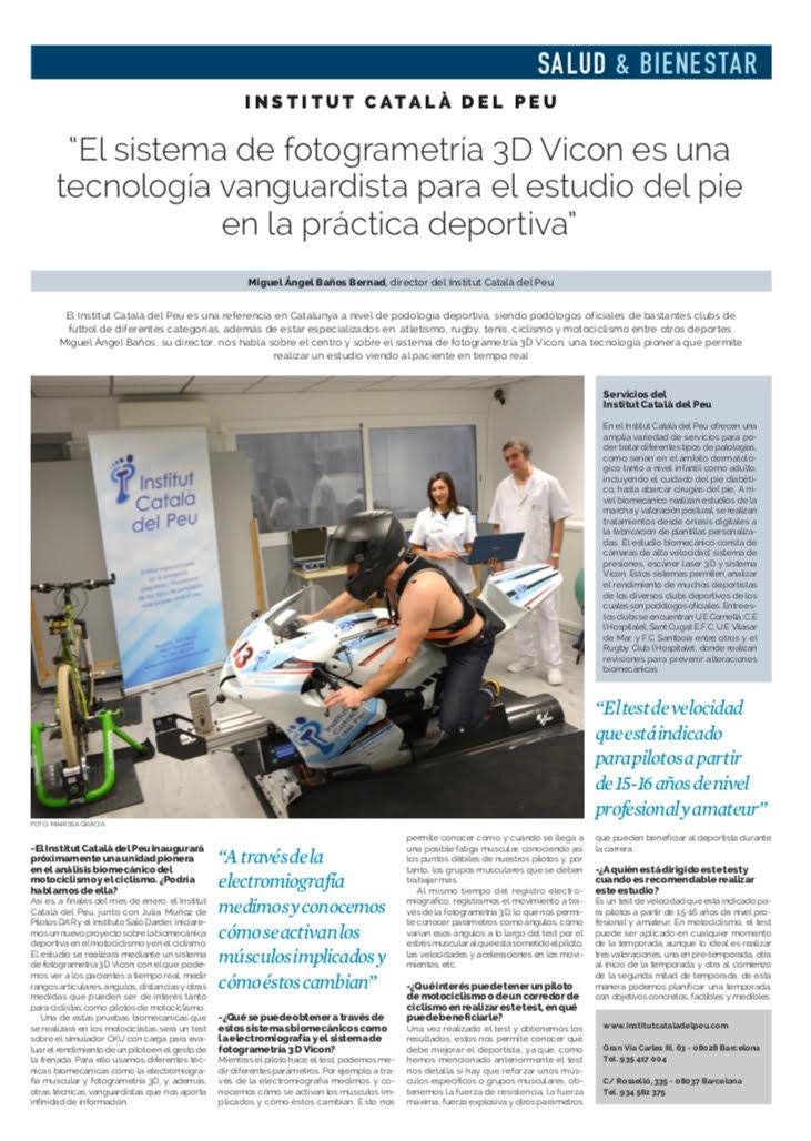 """Entrevista en """"La Vanguardia"""" al Director del Institut Català del Peu, Miguel Angel Baños Bernad"""