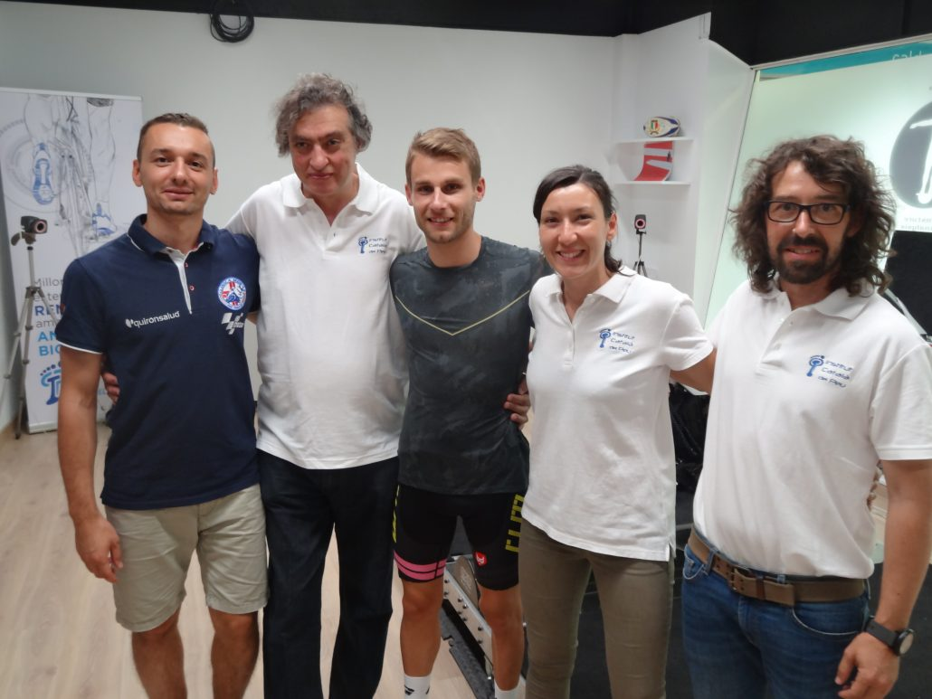THE INSTITUT CATALÀ DEL PEU CONDUCTS A BIOMECHANICAL ANALYSIS TO THE RIDER JULES CLUZEL.