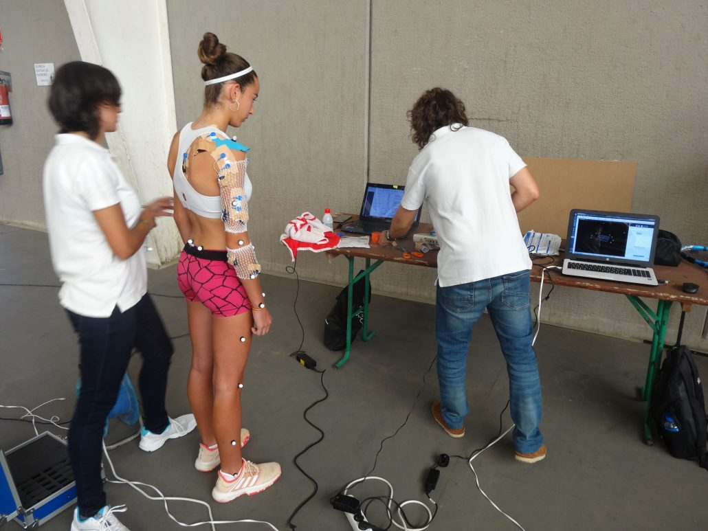 THE INSTITUT CATALÀ DEL PEU, OFFICIAL BIOMECHANICAL DEPARTMENT OF THE CATALAN TENNIS FEDERATION, CONDUCTS A BIOMECHANICAL ANALYSIS TO THE TENNIS PLAYER, RAQUEL CABALLERO.