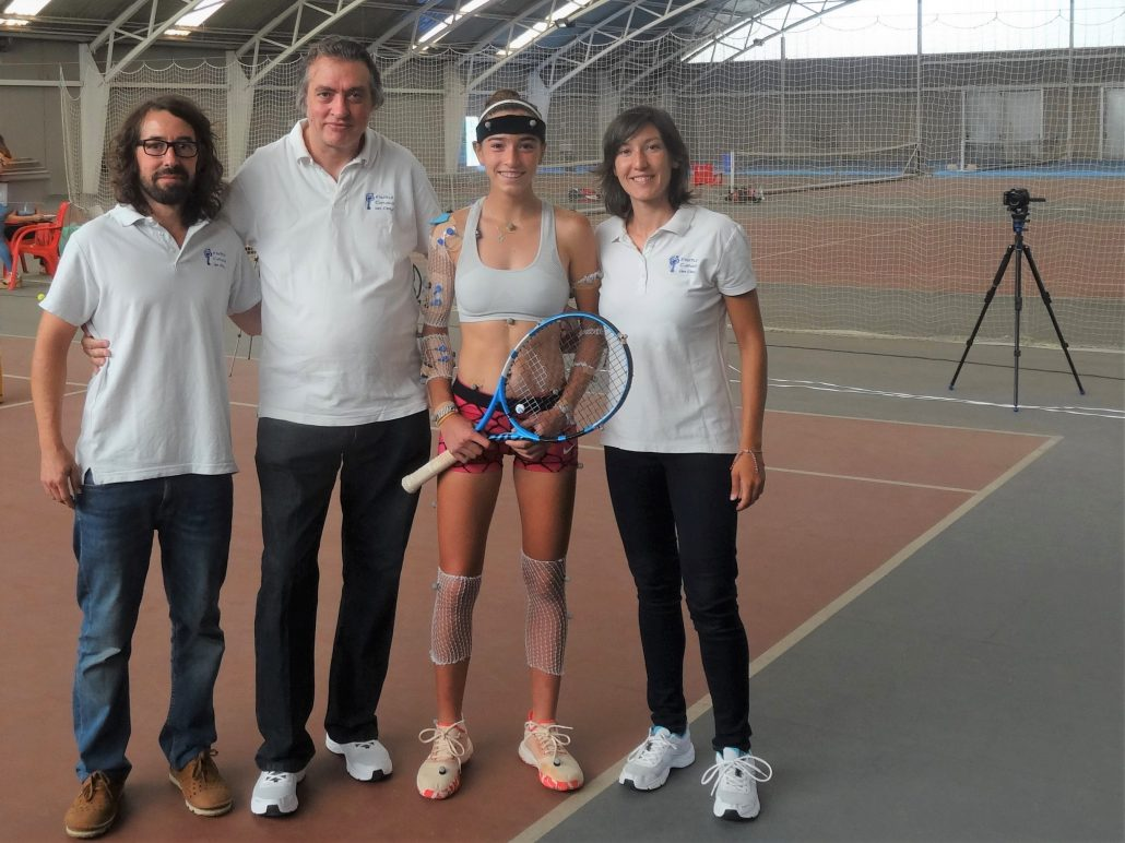 L'Institut Català del Peu, unitat biomecànica oficial de la Federació Catalana de Tennis, realitza una anàlisi biomecànica a la tennista Raquel Caballero.