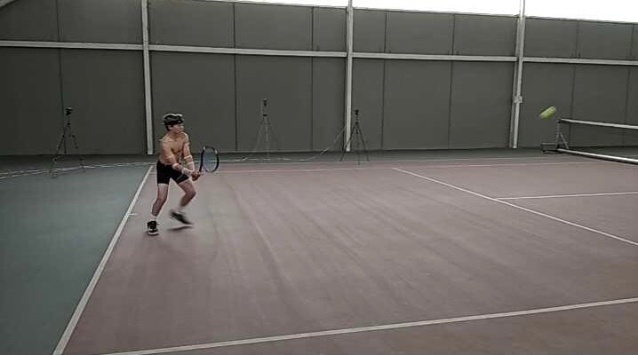 THE INSTITUT CATALÀ DEL PEU, OFFICIAL BIOMECHANICAL DEPARTMENT OF THE CATALAN TENNIS FEDERATION, CONDUCTS A BIOMECHANICAL ANALYSIS TO THE TENNIS PLAYER ROGER PASCUAL.