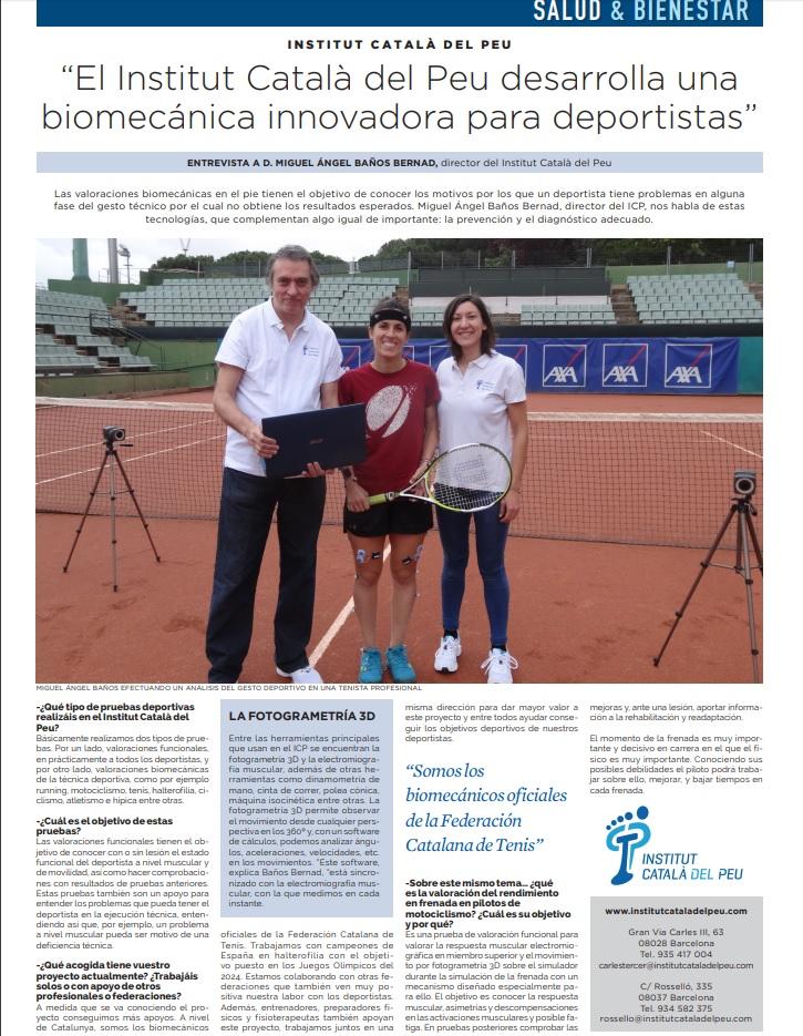 """Entrevista en """"La Vanguardia"""" a Miguel Angel Baños Bernad sobre la innovación biomecánica en deportistas."""