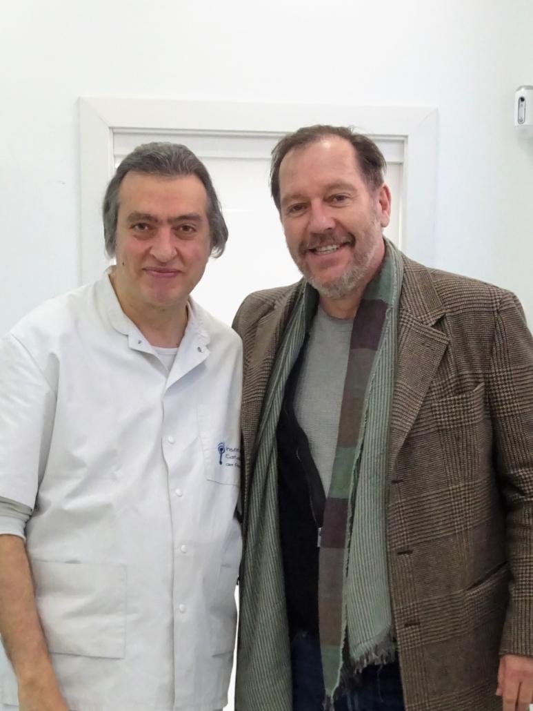 El actor Frank Feys visita el Institut Català del Peu